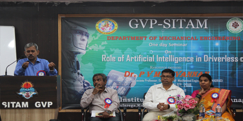"IIT MADRAS Dr. P.V.MANIVANNAN one day seminar on ""ROLE OF ARTIFICIAL INTELLIGENCE IN DRIVERLESS CAR"