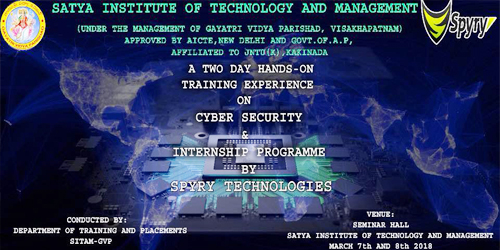 A Two days Hands on Training Experience on Cyber Security @ Computer Science Dept.